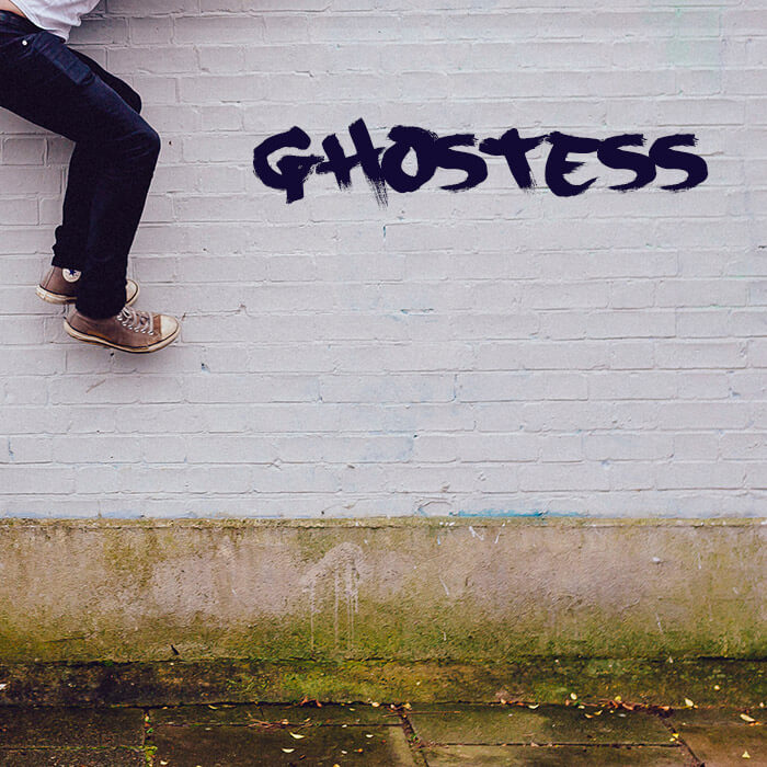Single artwork for Ghostess (acoustic) single from the Tell It To Me Straight series.
